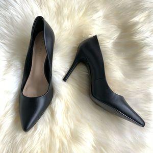 NINE WEST Point Toe Black Heels - size 6.5 NWT